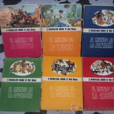 Cómics: 6 TOMOS EL MARAVILLOSO MUNDO DE WALT DISNEY DE BURU LAN AÑO 1971. Lote 140282037
