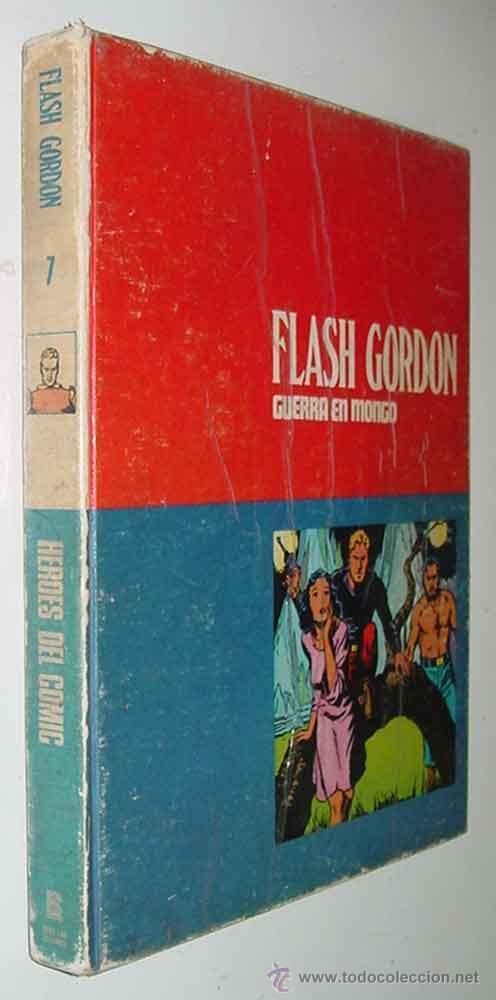 TOMO 7 - FLASH GORDON - GUERRA EN MONGO - LOMO BLANCO Y AZUL - ED. BURU LAN - AÑO 1972 - 240 PAG. - (Tebeos y Comics - Buru-Lan - Flash Gordon)