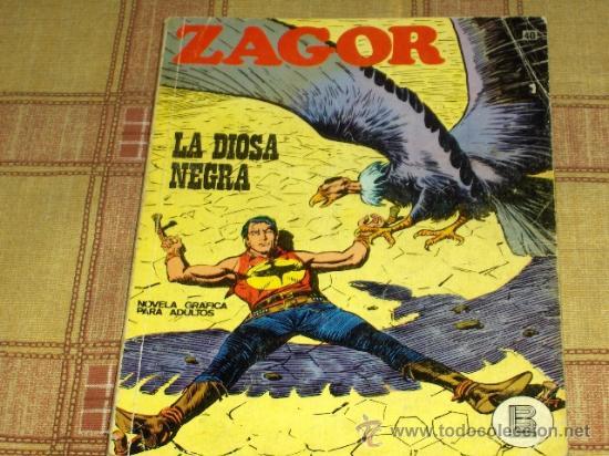 ZAGOR Nº 40. BURU LAN 1972. 25 PTS. LA DIOSA NEGRA. MUY DIFÍCIL!!!!!!!!!!! (Tebeos y Comics - Buru-Lan - Zagor)