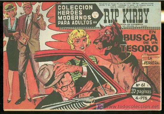 COLECCION HEROES MODERNOS. SERIE C. RIP KIRBY. Nº 61. (Tebeos y Comics - Buru-Lan - Rip Kirby)