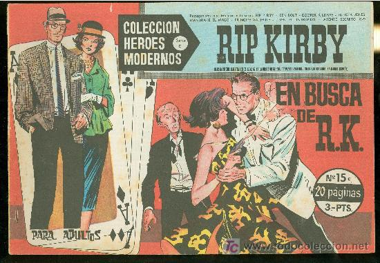 COLECCION HEROES MODERNOS. SERIE C. RIP KIRBY. Nº 15. (Tebeos y Comics - Buru-Lan - Rip Kirby)