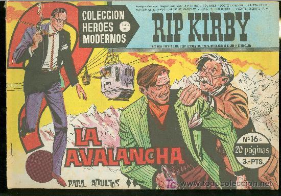 COLECCION HEROES MODERNOS. SERIE C. RIP KIRBY. Nº 16. (Tebeos y Comics - Buru-Lan - Rip Kirby)