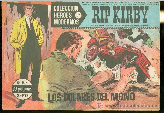 COLECCION HEROES MODERNOS. SERIE C. RIP KIRBY. Nº 6. (Tebeos y Comics - Buru-Lan - Rip Kirby)