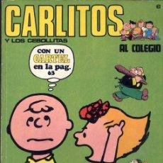 Cómics: CARLITOS POR CHARLES SCHULZ. NUMERO 6 EDITORIAL BURU LAN 1971. Lote 27331459