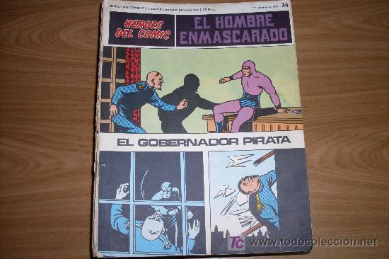 EDITORIAL BURULAN HEROES DEL COMICS EL HOMBRE ENMASCARADO NUMERO 34 (Tebeos y Comics - Buru-Lan - Hombre Enmascarado)