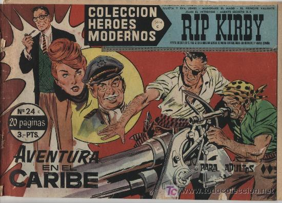 HÉROES MODERNOS SERIE C Nº 24. RIP KIRBY. (Tebeos y Comics - Buru-Lan - Rip Kirby)