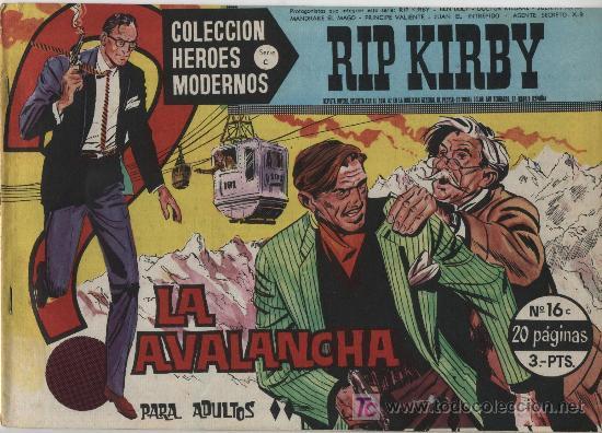 HÉROES MODERNOS SERIE C. Nº 16. RIP KIRBY. (Tebeos y Comics - Buru-Lan - Rip Kirby)