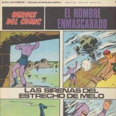 Cómics: EL HOMBRE ENMASCARADO Nº 44. HÉROES DEL COMIC. BURU LAN 1971.. Lote 20692096