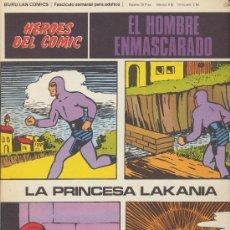 Cómics: EL HOMBRE ENMASCARADO Nº 38. HÉROES DEL COMIC. BURU LAN 1971.. Lote 20692354