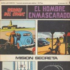 Cómics: EL HOMBRE ENMASCARADO Nº 35. HÉROES DEL COMIC. BURU LAN 1971.. Lote 20693286