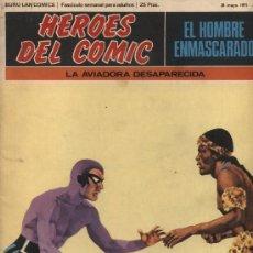 Cómics: EL HOMBRE ENMASCARADO Nº 18. HÉROES DEL COMIC. BURU LAN 1971.. Lote 20704606