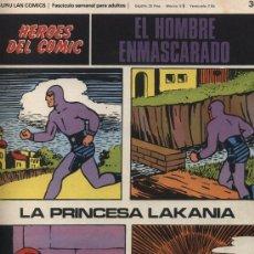 Cómics: EL HOMBRE ENMASCARADO Nº 38. HÉROES DEL COMIC. BURU LAN 1971.. Lote 20706943
