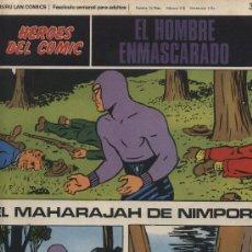 Cómics: EL HOMBRE ENMASCARADO Nº 37. HÉROES DEL COMIC. BURU LAN 1971.. Lote 20706983