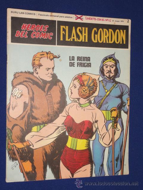 FLASH GORDON Nº 2 - HEROES DEL COMIC - BURU LAN (Tebeos y Comics - Buru-Lan - Flash Gordon)