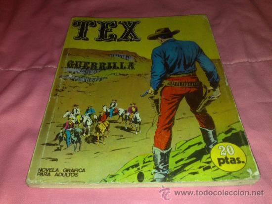 COMIC DE TEX , BURU LAN Nº 6 ¡ PRIMERA EDICIÓN ¡ GUERRILLA ¡ (Tebeos y Comics - Buru-Lan - Tex)