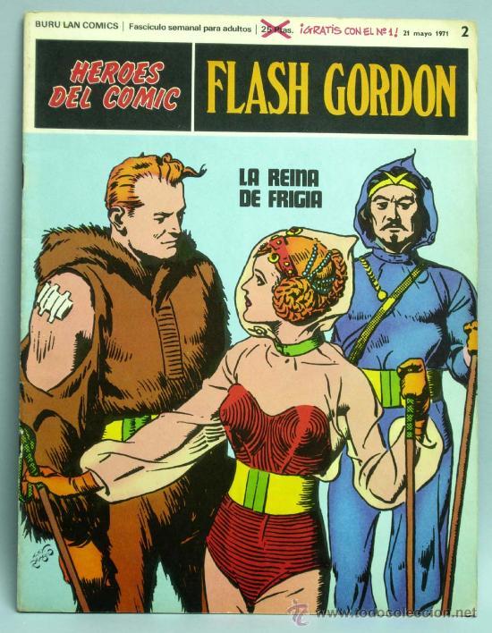 FLASH GORDON Nº 2 LA REINA DE FRIGIA EDITORIAL BURU LAN BURULAN 1971 (Tebeos y Comics - Buru-Lan - Flash Gordon)