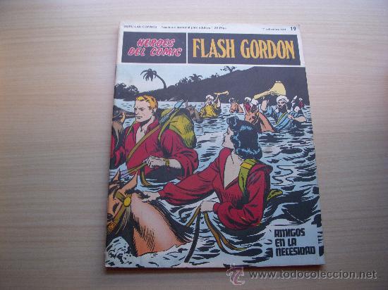 HEROES DEL COMIC, FLASH GORDON Nº 19, EDITORIAL BURU-LAN (Tebeos y Comics - Buru-Lan - Flash Gordon)