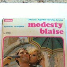 COLECCIÓN AGENTES SECRETOS BURU LAN Nº 1. MODESTY BLAISE. 1974. 150 PTS. ALBUM RÚSTICA TODO COLOR.