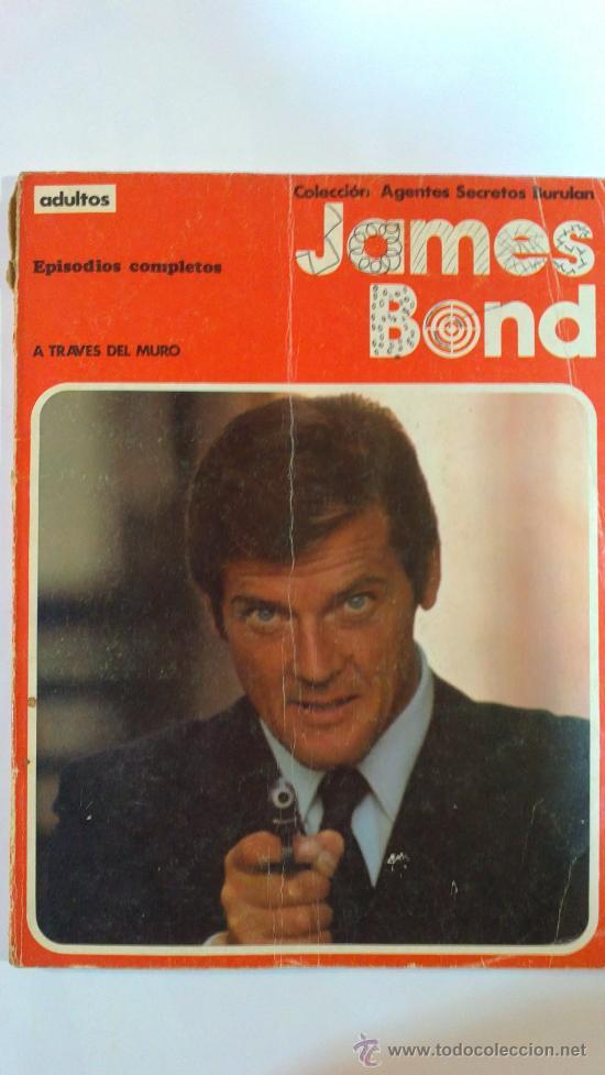 JAMES BOND(A TRAVES DEL MURO).Nº1. EPISODIOS COMPLETOS BURULAN 1974.RUSTICA A TODO COLOR (Tebeos y Comics - Buru-Lan - James Bond)