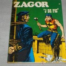 Cómics: ZAGOR Nº 56. BURU LAN 1973. 25 PTS. J DE PIC. Y MUY DIFÍCIL!!!!!!!!!. Lote 31304156