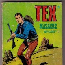 Cómics: TEX - Nº 24 - MASACRE. Lote 31558233