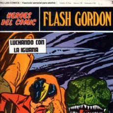 Cómics: BURU LAN COMICS, HÉROES DEL COMIC, FLASH GORDON, LUCHANDO CON LA IGUANA. Lote 31625661