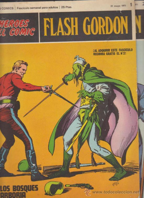 FLASH GORDON. Nº 1 Y 2 . BURU LAN 1971. (Tebeos y Comics - Buru-Lan - Flash Gordon)