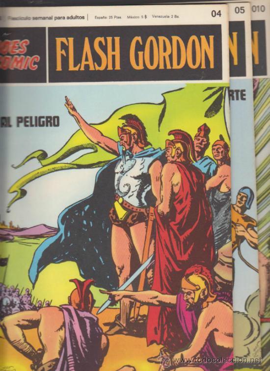 FLASH GORDON. Nº 04,05 Y 010 . BURU LAN 1971. (Tebeos y Comics - Buru-Lan - Flash Gordon)