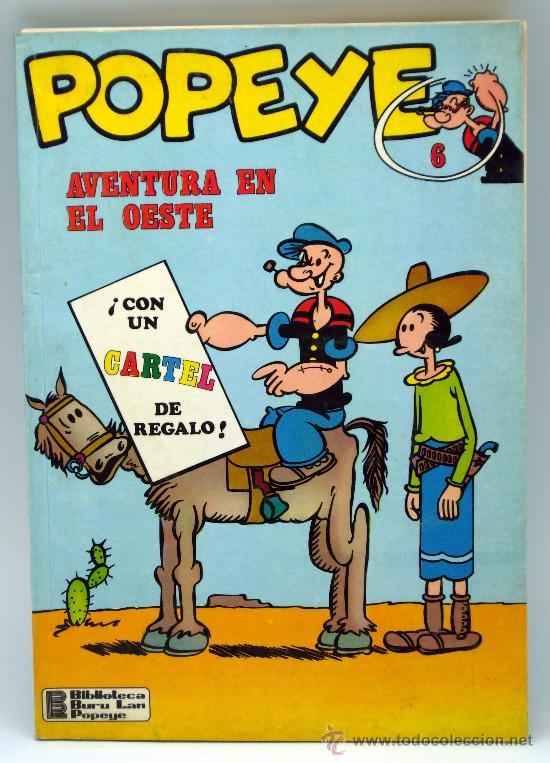 POPEYE AVENTURA EN EL OESTE Nº 6 ED BURU LAN BURULAN 1971 (Tebeos y Comics - Buru-Lan - Popeye)