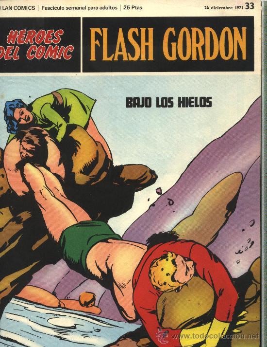 FLASH GORDON - HEROES DEL COMIC, Nº: 33 - BURULAN EDICIONES 1971 (Tebeos y Comics - Buru-Lan - Flash Gordon)