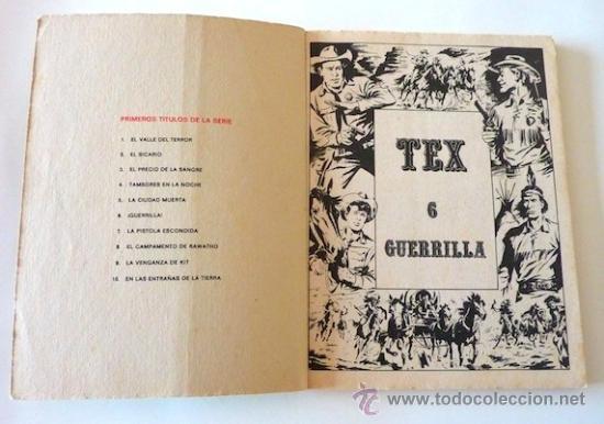 Cómics: Tex Nº 6. Guerrilla. Buru Lan. 1970. En - Foto 3 - 32938065