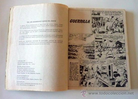 Cómics: Tex Nº 6. Guerrilla. Buru Lan. 1970. En - Foto 5 - 32938065