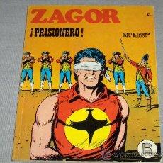 Cómics: ZAGOR Nº 47. BURU LAN 1972. 25 PTS. PRISIONERO. Y MUY DIFÍCIL!!!!!!!!. Lote 34717235
