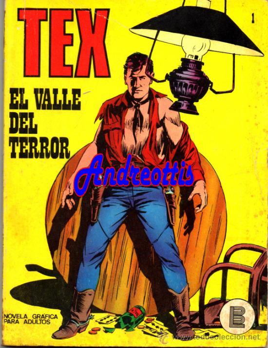 TEX Nº 1 EDITORIAL BURU LAN. TITULO: EL VALLE DEL TERROR (Tebeos y Comics - Buru-Lan - Tex)