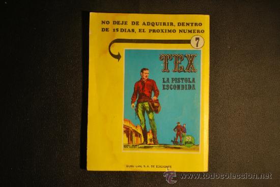 Cómics: TEX Nº 06 GUERRILLA BURU LAN EDICIONES AÑO 1970 - Foto 2 - 35873130