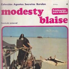 Cómics: MODESTY BLAISE 4 – COLECCION AGENTES SECRETOS BURULAN FASCICULO SEMANAL BURU LAN. Lote 36046441