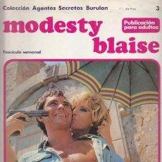 Cómics: MODESTY BLAISE 3 – COLECCION AGENTES SECRETOS BURULAN FASCICULO SEMANAL BURU LAN. Lote 36046448