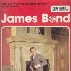 Cómics: JAMES BOND 7 – COLECCION AGENTES SECRETOS BURULAN FASCICULO SEMANAL BURU LAN. Lote 36046483