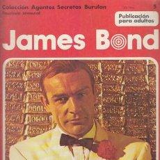 Cómics: JAMES BOND 5 – COLECCION AGENTES SECRETOS BURULAN FASCICULO SEMANAL BURU LAN. Lote 36046486