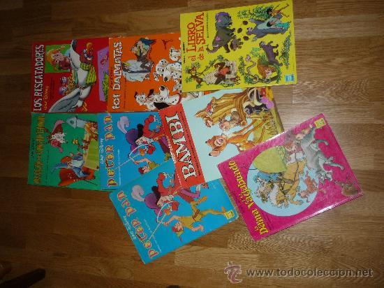 8 GIGANTES DISNEY PETER PAN EL LIBRO DE LA SELVA LOS ARISTOGATOS BAMBY 101 DALMATAS BURU LAN AÑOS 70 (Tebeos y Comics - Buru-Lan - Otros)
