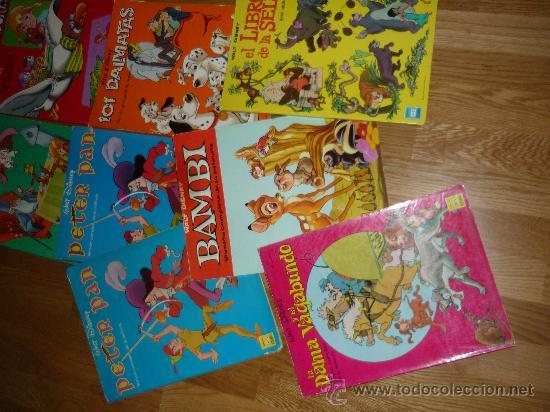 Cómics: 8 GIGANTES DISNEY PETER PAN EL LIBRO DE LA SELVA LOS ARISTOGATOS BAMBY 101 DALMATAS BURU LAN AÑOS 70 - Foto 3 - 36132177