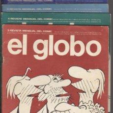 Cómics: EL GLOBO. LOTE DE 4 EJEMPLARES Nº 3,4,5 Y 6.. Lote 36772630