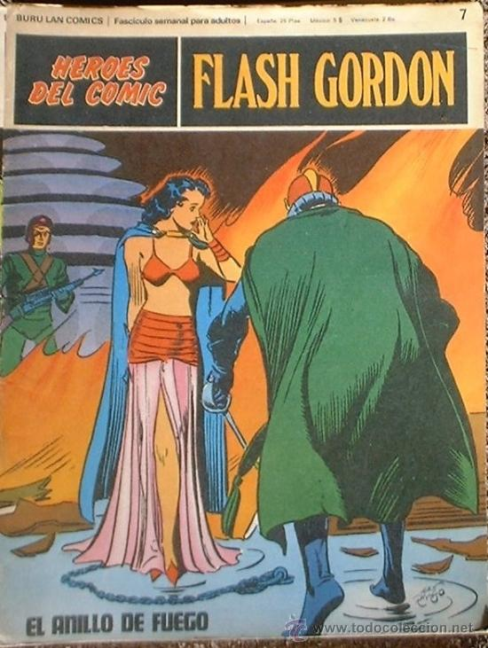 HEROES DEL COMIC - FLASH GORDON Nº 7 - EL ANILLO DE FUEGO - BURU LAN COMICS 1972 (Tebeos y Comics - Buru-Lan - Flash Gordon)