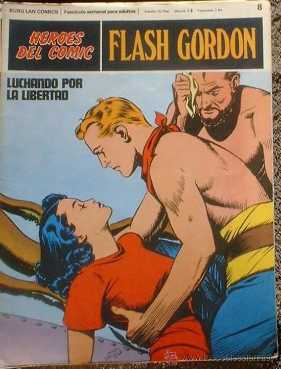 HEROES DEL COMIC - FLASH GORDON Nº 8 - LUCHANDO POR LA LIBERTAD - BURU LAN COMICS 1972 (Tebeos y Comics - Buru-Lan - Flash Gordon)