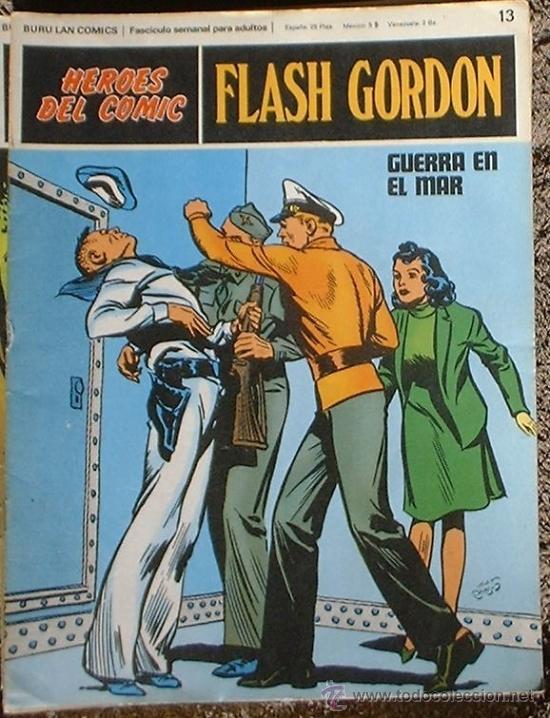 HEROES DEL COMIC - FLASH GORDON Nº 13 - GUERRA EN EL MAR - BURU LAN COMICS 1972 (Tebeos y Comics - Buru-Lan - Flash Gordon)