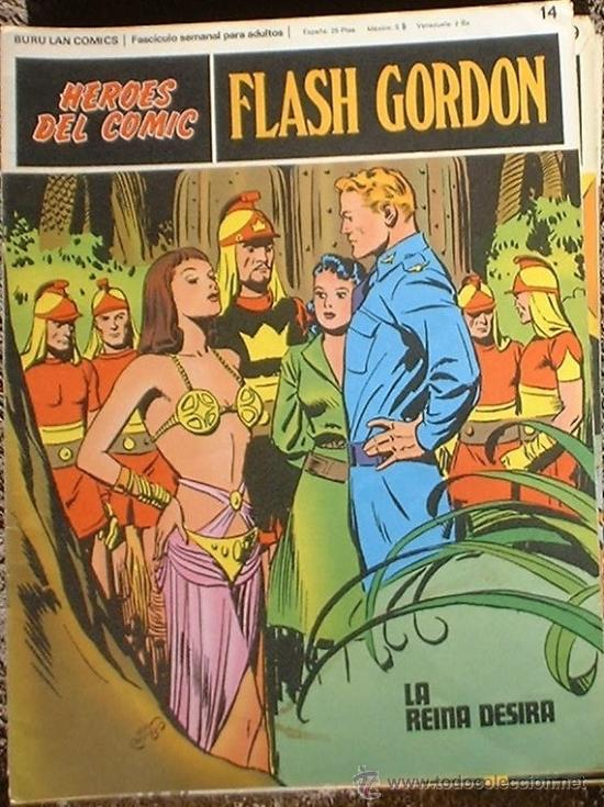 HEROES DEL COMIC - FLASH GORDON Nº 14 - LA REINA DESIRA - BURU LAN COMICS 1972 (Tebeos y Comics - Buru-Lan - Flash Gordon)