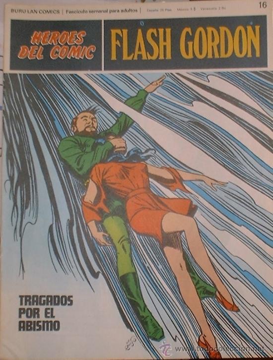 HEROES DEL COMIC - FLASH GORDON Nº 16 - TRAGADOS POR EL ABISMO - BURU LAN COMICS 1972 (Tebeos y Comics - Buru-Lan - Flash Gordon)