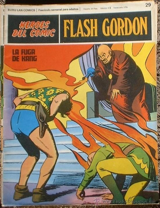 HEROES DEL COMIC - FLASH GORDON Nº 29 - LA FUGA DE KANG - BURU LAN COMICS 1972 (Tebeos y Comics - Buru-Lan - Flash Gordon)