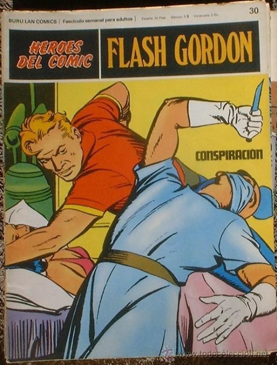 HEROES DEL COMIC - FLASH GORDON Nº 30 - CONSPIRACIÓN - BURU LAN COMICS 1972 (Tebeos y Comics - Buru-Lan - Flash Gordon)