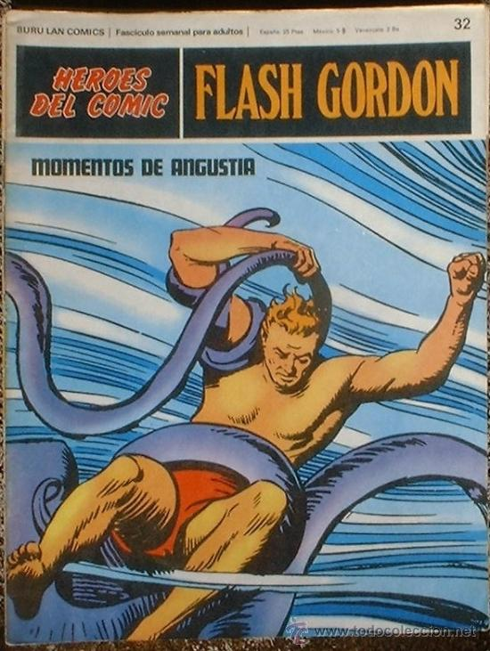 HEROES DEL COMIC - FLASH GORDON Nº 32 - MOMENTOS DE ANGUSTIA - BURU LAN COMICS 1972 (Tebeos y Comics - Buru-Lan - Flash Gordon)